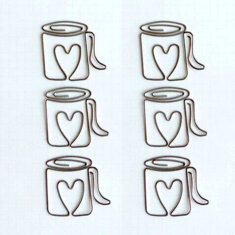 Cup Of Joe Vintage Metal Trinkets (6/Pkg)