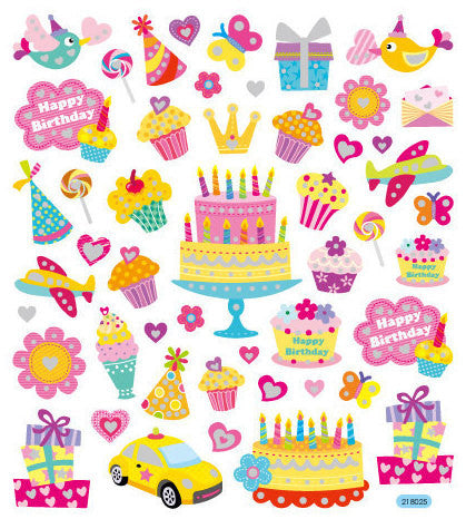 Your Birthday Sparkles Stickers