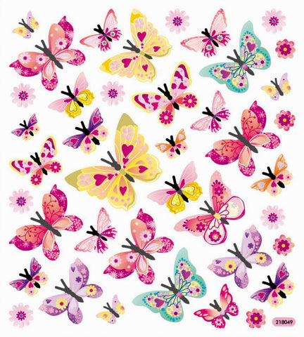 Butterfly Stickers • Glitter Monarch Sticker