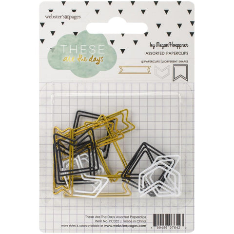 Arrow Paper Clips (15/Pkg) These Are The Days Shaped Paper Clips Assorted