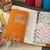 Personal Planner Kit Caramel Webster's Pages Color Crush • Free Washi Tape