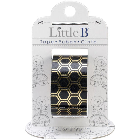Gold & Black Honeycomb Tape • Little B Foil Tape