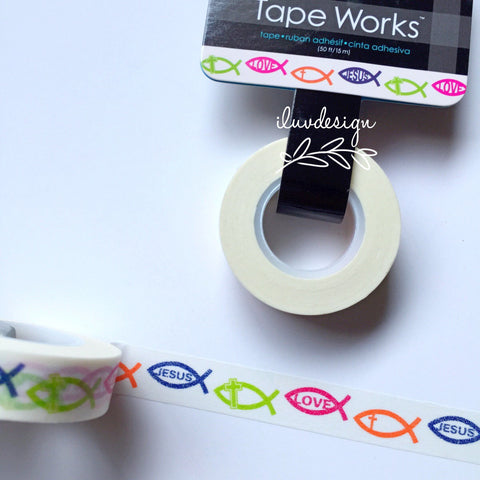 Christian Fish Symbol Washi Tape. This tape is perfect for all paper proje