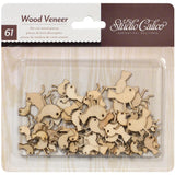 Birds Laser Cut Wood Veneer Shapes (Tweets 61/Pkg)