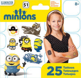 Minions Movie Temporary Tattoos • Mini Tattoo Bag 25ct
