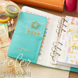 Personal Planner Kit Light Teal Webster's Pages Color Crush 2017 Calendar • Free Washi Tape