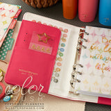 Personal Planner Kit Dark Pink Webster's Pages Color Crush • FREE WASHI TAPE