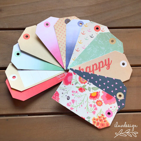 "Dear Lizzy Lucky Charm Bits Cardstock Tags 2.5""X4.5"" 12/Pkg  • American Crafts"