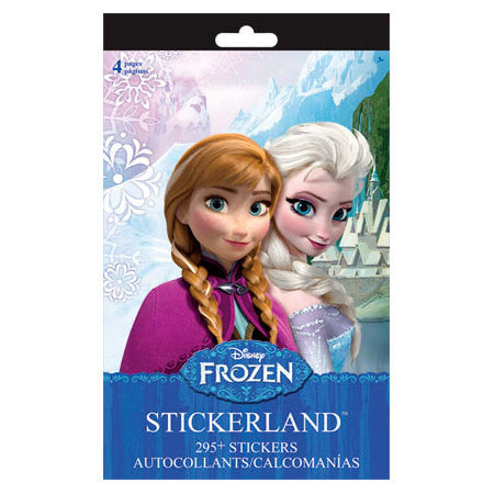 Disney Frozen Stickers Stickerland Pad (4 pages • 295 Stickers)