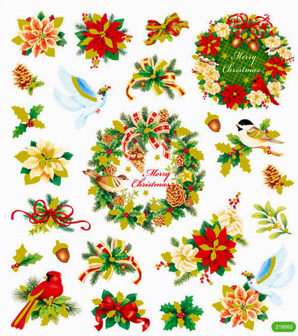 Christmas Stickers • Christmas Wreath Sticker