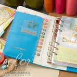 Personal Planner Kit Sky Blue Webster's Pages Color Crush • FREE WASHI TAPE