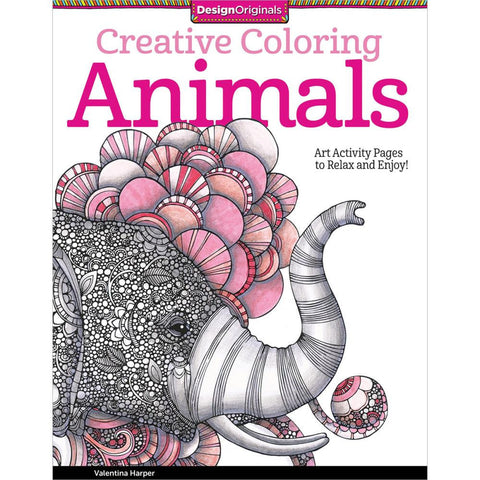 Creative Coloring Animals Coloring Book • Design Originals Coloring Book • Animals Colouring Book