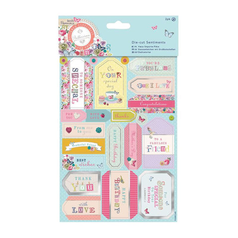 Bellissima Foiled Sentiments Papermania Die-Cuts 2/Sheets