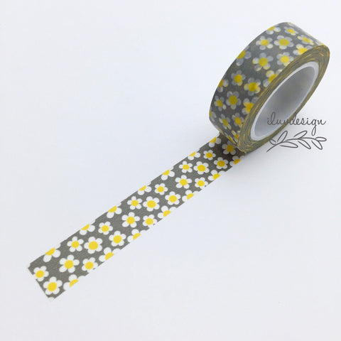 Daisy Flower Washi Tape