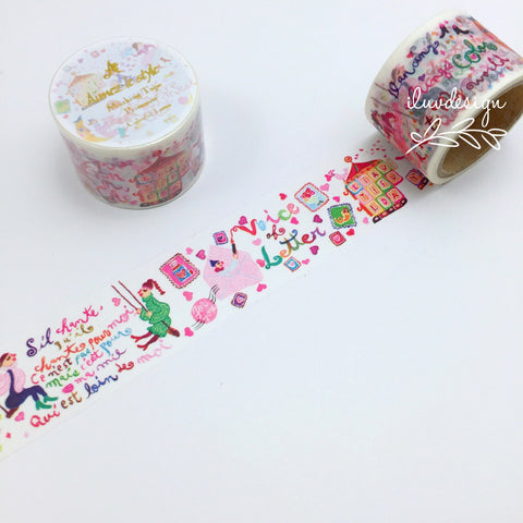 Colorful Letter Japanese Washi Tape Aimez
