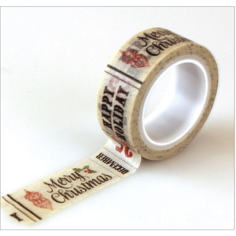 Christmas Words Washi Tape