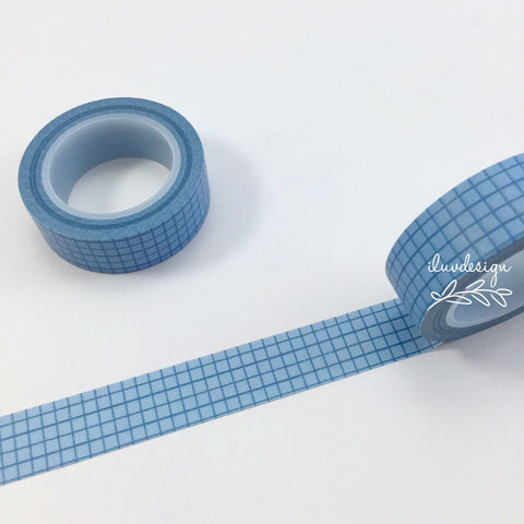 Blue Grid Decorative Tape