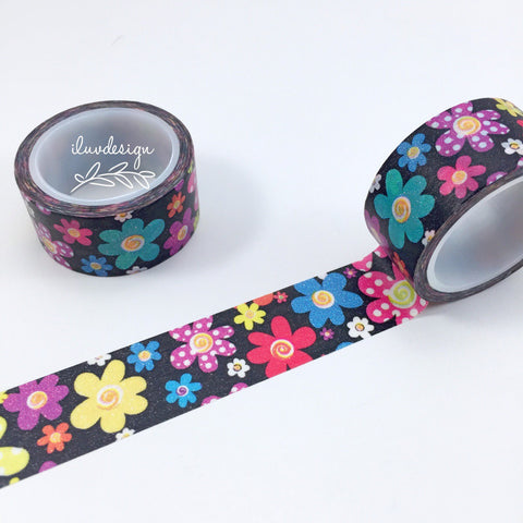 Daisy Washi Tape • Colorful Daisy Washi Tape