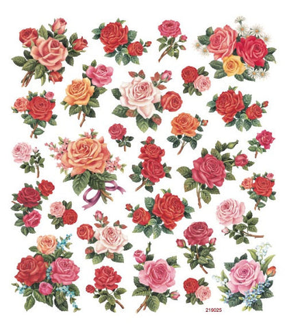 Classic Roses Stickers Multicolored Stickers