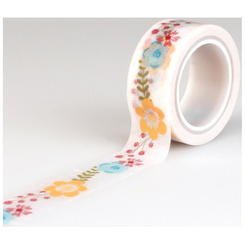 Floral Washi Tape •  Flower Decorative Tape