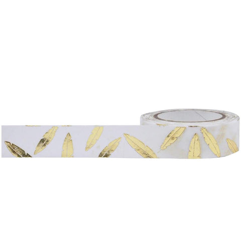 Gold Feathers Decorative Tape • Little B Foil Tape