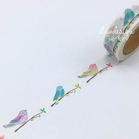 Birds On Tree Branch Washi Tape