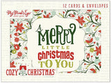 Christmas Cards • My Mind's Eye Cozy Christmas Card Set