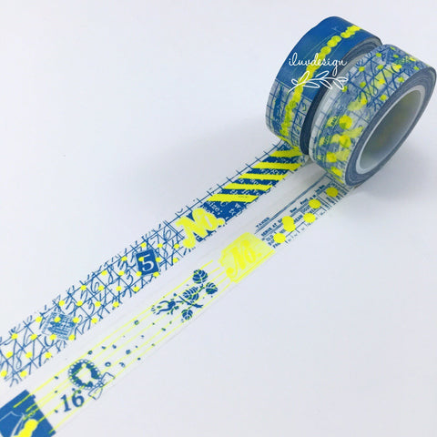 Graffiti Neon Washi Tape