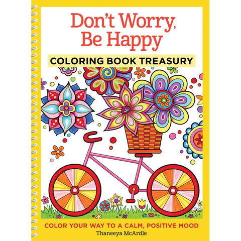 Don't Worry, Be Happy Coloring Book • Design Originals Coloring Books