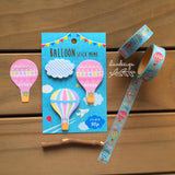 Hot Air Balloon & Clouds Sticky Notes • Balloon Washi Tape Aimez