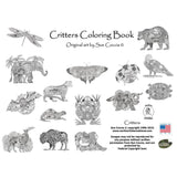 Critters Coloring Book • EarthArt Coloring Book • Critters Colouring Book