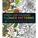 Stress Less Coloring Flower Patterns Coloring Book • Adams Media Coloring Book
