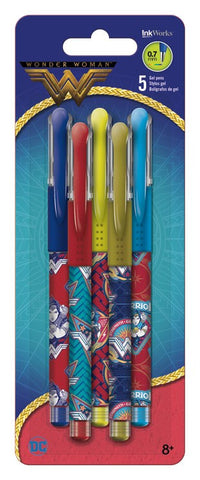 Wonder Woman Movie Colored Gel Pen 5/pk • 0.7mm Ink Works