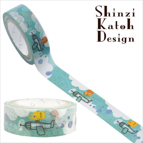 Airplane Masking Tape • Shinzi Katoh Design Japanese Washi Tape
