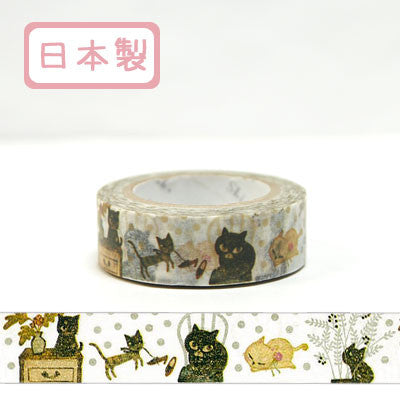 Cat Cat Cat 2 Masking Tape • Shinzi Katoh Design Japanese Washi Tape