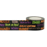 Orange Foil Halloween Words Little B Decorative Foil Tape