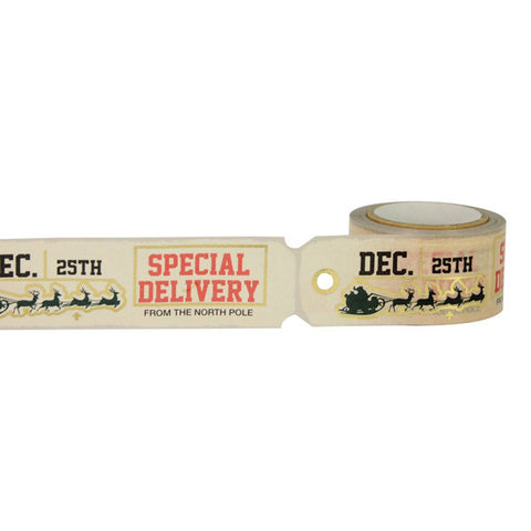 Christmas Tag Die Cut Gold Foil Decorative Tape