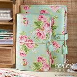 A5 Binder Only • Mint Floral Webster's Pages Color Crush • FREE WASHI TAPE