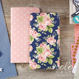 Color Crush Travelers' Notepad Inserts Set 2/Pkg Navy Floral & Star