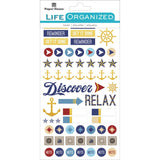 Nautical Planner Sticker • Paper House Life Organized Planner Stickers 4/Pkg