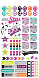 Girl Sports Planner Sticker • Paper House Life Organized Planner Stickers 4/Pkg