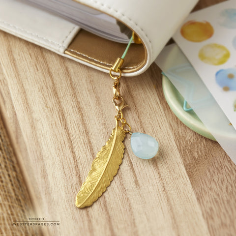 Feather Tickled Charm Embellishment • Webster's Pages Color Crush