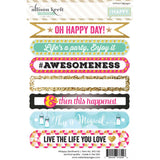 "#Happy Sentiments Stickers 4""X6"" • Webster's Pages"