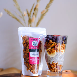 Burnt Honey Granola w/ Cranberries