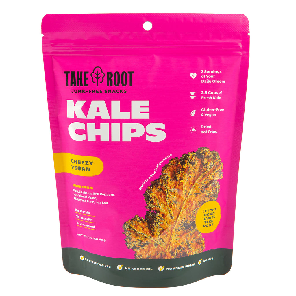 Cheezy Vegan Kale Chips