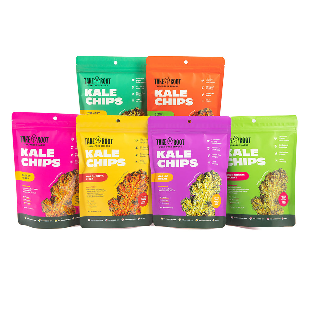 Kale Chips Set of 3, 6 or 12