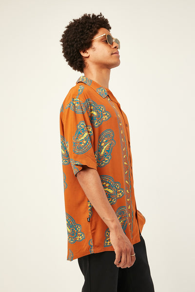 PERSIA SS SHIRT - BURNT RED
