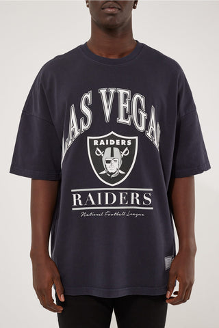 VINTAGE NFL ARCH OS TEE - RAIDER - FADED BLACK