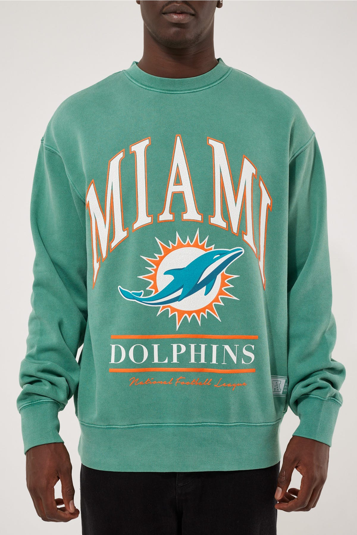 VINTAGE NFL ARCH CREW - DOLPHINS - TEAL