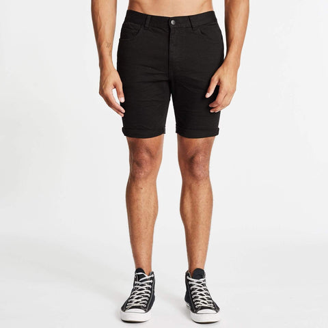 KS3 DENIM SHORT - JET BLACK